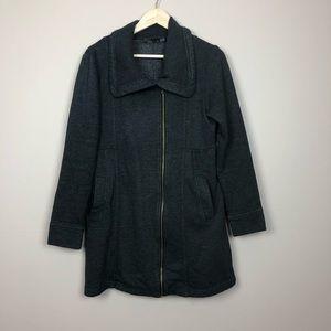 Prana Gray Pocket Zip Up Jacket